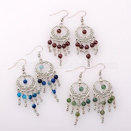 Trendy Dangling Gemstone EarringsEJEW-JE01234-1