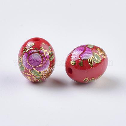 Imagen de la flor impresa bolas de resinaRESI-J020-A04-1