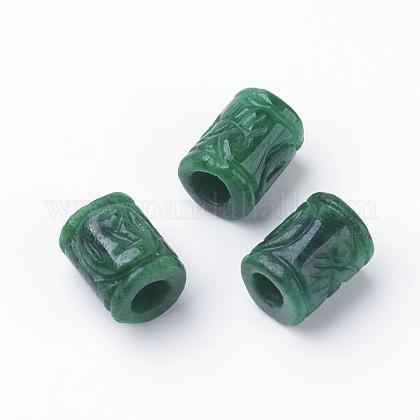 Perles européennes de Myanmar jade/jade birman naturelG-E418-11-1