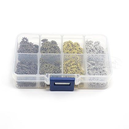 1 коробка 400 шт смешивать цвета цветок тибетский стиль шарики прокладкиTIBEB-X0020-NR-B-1