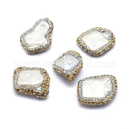 Perlas naturales abalorios de agua dulce cultivadasRB-A062-025-1