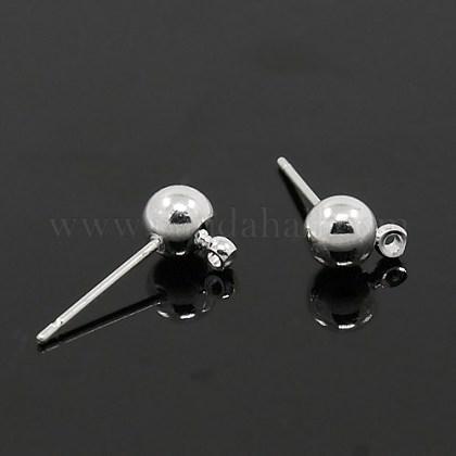 Brass Ball Post Ear StudsEC254-S-1