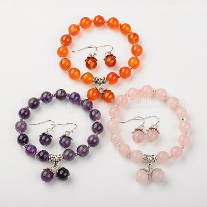 Gemstone Jewelry Sets SJEW-JS00695-1