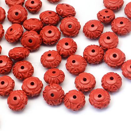 Rondelle perlas de cinabrioCARL-Q003-13-1
