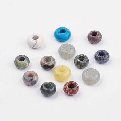Perles européennes en pierre mélangée naturelle et synthétiqueSPDL-MSMC001-01-1