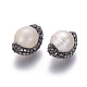 Perlas naturales abalorios de agua dulce cultivadasPEAR-F015-11-2