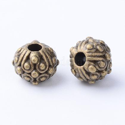 Tibetischer stil legierung perlenTIBE-Q063-117AB-NR-1