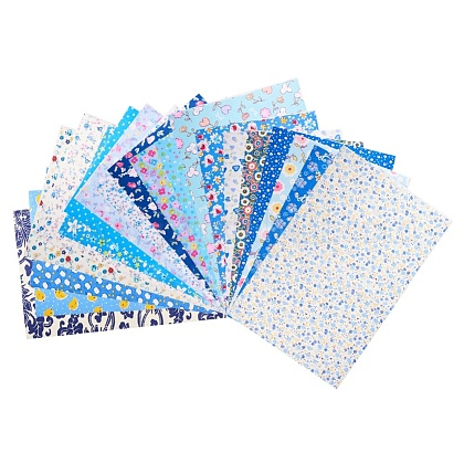 Mixed Printed Cotton Sewing Quilting Fabrics DIY-WH0119-01-1