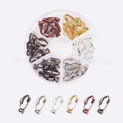 Brass Clip-on Earring ConverterKK-JP0010-05-1