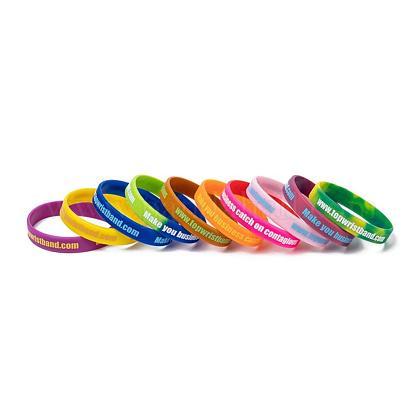 Свободные браслеты браслеты силикона образцаBJEW-K165-04B-1