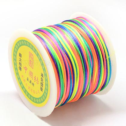 ナイロン糸  ラットテールサテンコード  カラフル  1.0mm  約76.55ヤード(70m)/ロールNWIR-R025-1.0mm-10-1