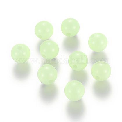 Cuentas redondas acrílicas luminosasLACR-R002-4mm-01-1