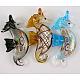 Handmade Silver Foil Glass Big PendantsX-SLSP105-1