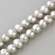Hebras de perlas de agua dulce cultivadas naturalesPEAR-R065-14-1