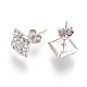 Valentines Days Gifts for Men Austrian Crystal Ear Studs EJEW-H042-001-3