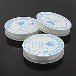 Elastic Crystal Thread, Mixed Style, Clear, 0.4~0.8mm; about 5~10m/roll