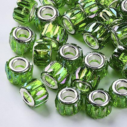 Los abalorios europeos de resina transparenteX-RPDL-Q023-A-B01-1