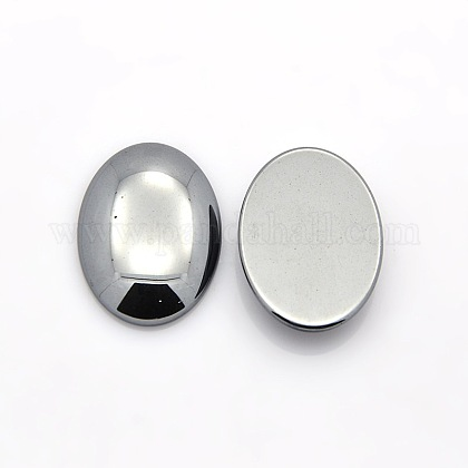 Oval Non-Magnetic Synthetic Hematite CabochonsG-P061-05-18mm-1