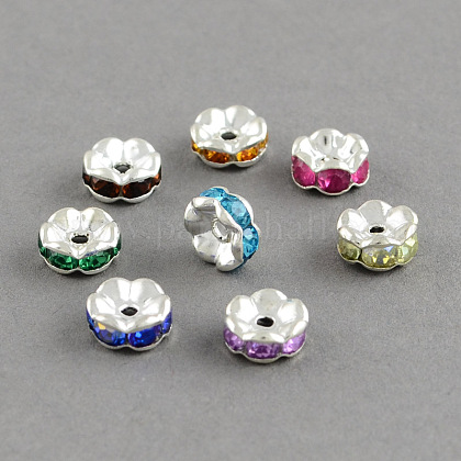 Brass Grade A Rhinestone Bead Spacers RB-S033-A-1