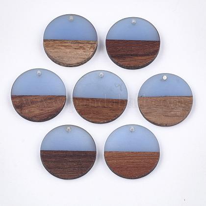 Colgantes de resina y madera de nogalRESI-S358-02D-09-1