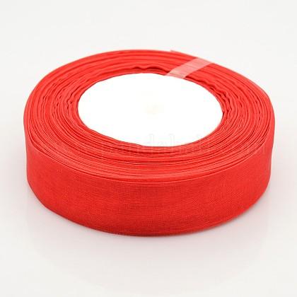 Sheer Organza RibbonX-RS25mmY026-1