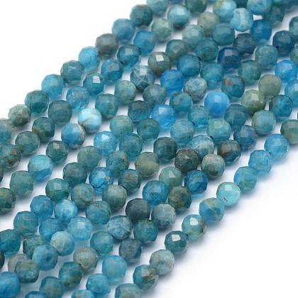 Natural Apatite Beads Strands G-E411-36-2mm-1