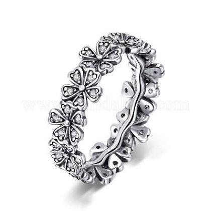 Thai 925 plata esterlina anillos de dedoRJEW-FF0008-011AS-16mm-1