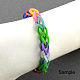 Fluorescent Neon Color Rubber Loom Bands Refills with AccessoriesX-DIY-R006-04-3