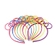Rubberized Style Plastic Fluorescent Color Hair Bands OHAR-T003-23-1