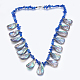 Lapislázuli y collares de concha/paua shellbibNJEW-P212-09-1