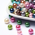 Colorful Acrylic Beads, Imitation Pearl Style, Round, Mixed Color, 8mm, Hole: 2mm; about 2000pcs/500g