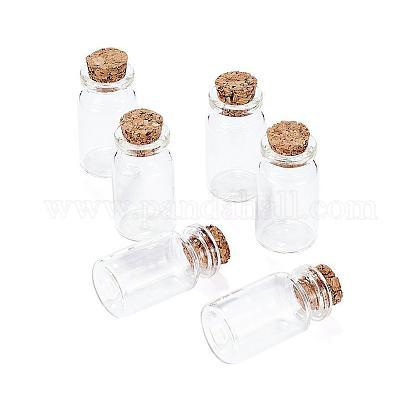 Frasco de vidrio transparente que desea las botellas viales con corchoX-AJEW-H004-7-1