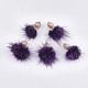 Decoraciones colgantes de borla de piel de visón falsoX-FIND-T050-19-1