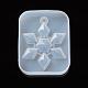 Moldes colgantes de silicona de fundición de resina de copo de nieve de navidadDIY-WH0162-56-2