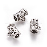 Tibetan Style Alloy Hanger Links, Antique Silver, 9.5x11x6mm, Hole: 1.5mm, Inner Diameter: 4mm