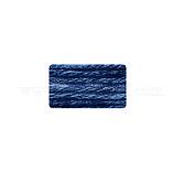 Hilos de alta calidad para tejer a mano, hilados de algodón de lana, con el algodón y la lana, azul marino, 2 mm; aproximamente 50 g / rollo, 10 rollos / bolsa