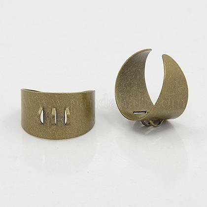 アンティークブロンズトーン調節可能な真鍮のリングシャンクX-KK-J114-AB-1