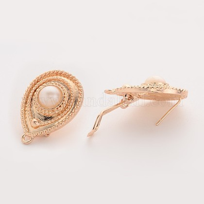 Alloy Stud Earring FindingsPALLOY-O080-10-1