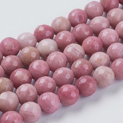 Natural Rhodochrosite Beads StrandsG-G542-6mm-12-1