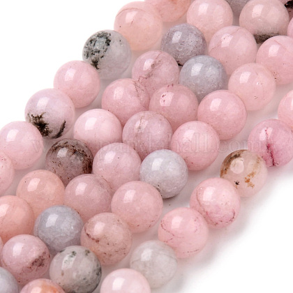 Natural Cherry Blossom Jasper Beads Strands X-G-Q462-63-6mm-1