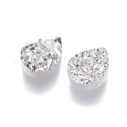 Perlas de resina de piedras preciosas druzy imitaciónRESI-L026-C04-1