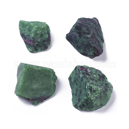 Rough Raw Natural Ruby in Zoisite Beads G-WH0003-03-1
