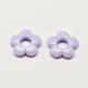 Marcos de abalorios de flores de acrílico opacoSACR-Q100-M054-2