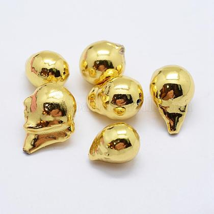Perlas barrocas naturales perlas cultivadas de agua dulcePEAR-F006-93G-1