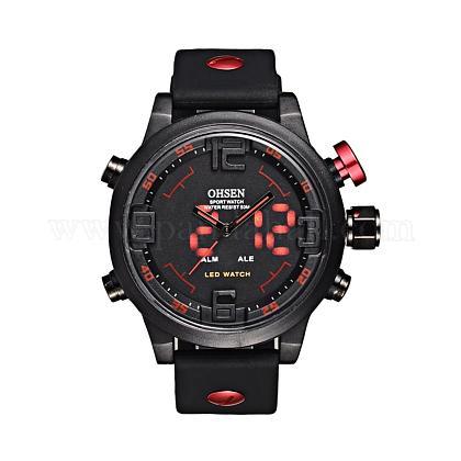 Fashion Plastic Men's Electronic WristwatchesWACH-I005-01A-1