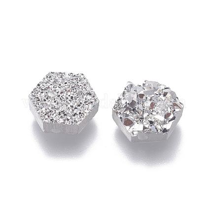 Perlas de resina de piedras preciosas druzy imitaciónRESI-L026-B01-1