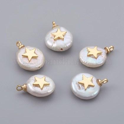 Colgantes naturales de perlas cultivadas de agua dulcePEAR-F008-04G-1