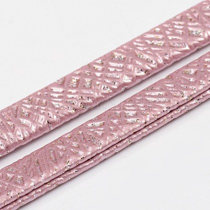 Cordones de cuero planas de la PUWL-L003-04-1