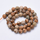Natural Picture Jasper Beads Strands G-S281-01-8mm-2