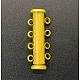 4-strands Brass Slide Lock ClaspsKK-Q268-2-1